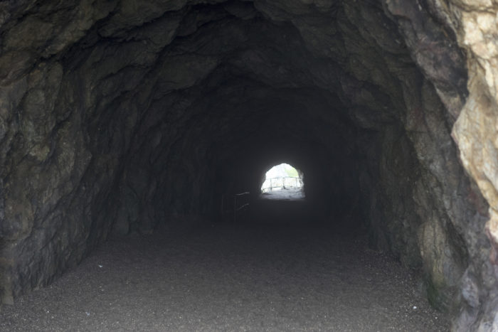 Some rumors purport that there have been human sacrifices performed in this tunnel and other abandoned tunnels and caves that once made up the Sutro Baths complex.  This may be linked to Anton LaVey's Church of Satan, which was located not far away from the Sutro Baths.