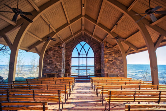 There's also a chapel atop the mountain.
