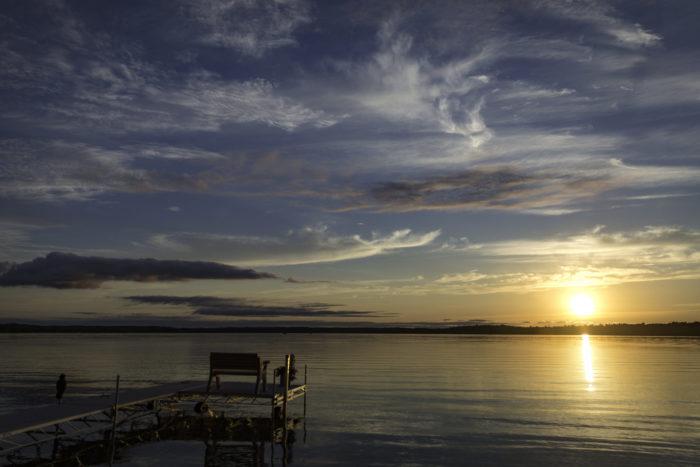 2. A Minnesota lake sunset.