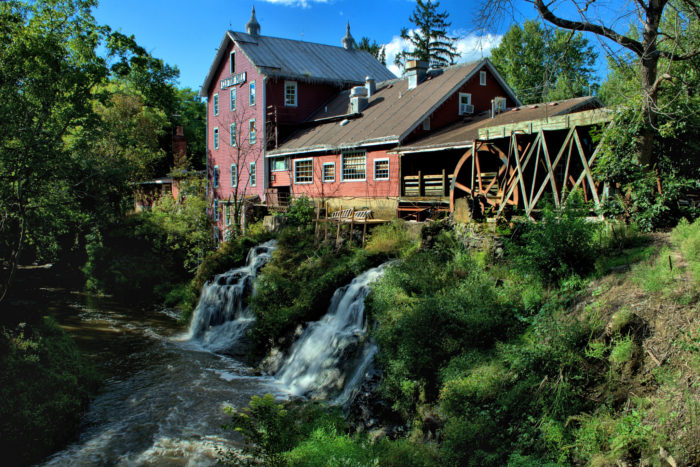 One of the largest water powered grist mills still in existence, Clifton Mill is fueled by the Little Miami River.
