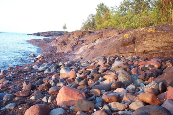 9.  The Lake Superior shoreline.