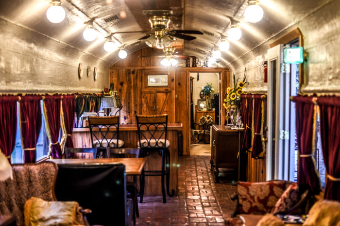Once you step inside you'll  be surrounded by Victorian furnishings that give the train a very romantic feel.