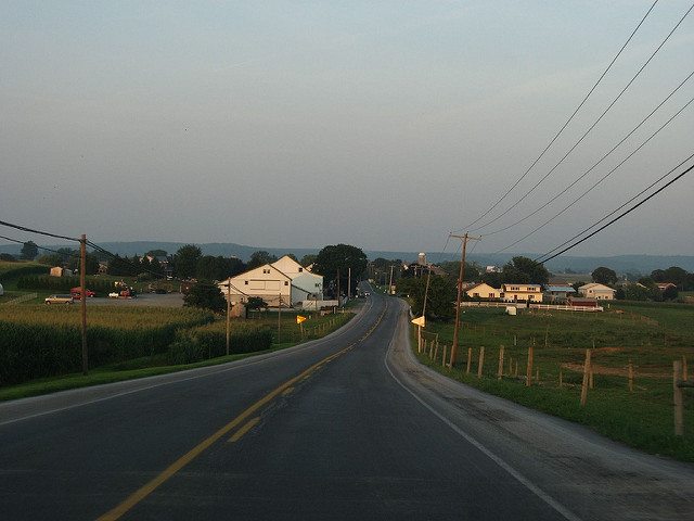Get unspoiled views of the rustic Amish countryside on a drive down PA Route 340 in Lancaster County. Pass the quaint villages of Smoketown and the village of Bird In Hand.