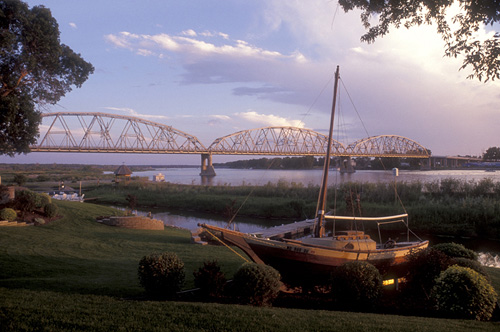 2. Head out onto the Missouri River, whether by canoe, swimming, or even by riverboat