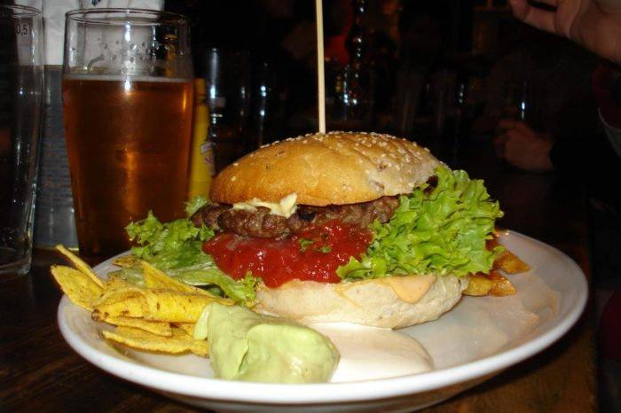 Like any good bar and grill, the Happy Heifer serves delicious burgers and ice cold beer.