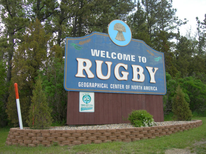 The sign you see when you enter Rugby proudly displays the title
