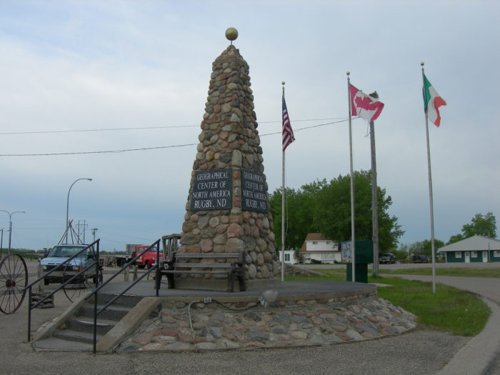 The monument dedicated to the center is made up of stones and stands 15 feet high