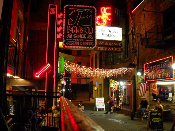 1. Printer's Alley was the heartbeat of Nashville's illegal alcohol purveyors during prohibition.