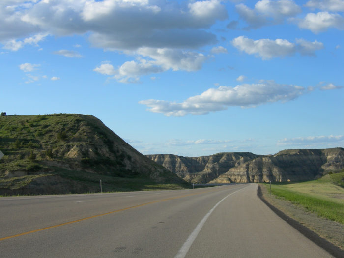 3. Highway 85 through the  rugged buttes of the Badlands