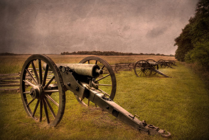 Visitors to the battlefield report hearing cannon fire in the night . . .