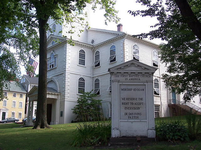 The First Baptist Church In America stands magnificently on North Main Street in Providence.