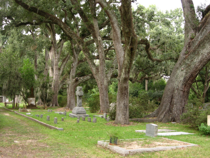 Grace Episcopal Church is one of the oldest protestant churches in the area, and the cemetery is well known to have many spirits haunting it.