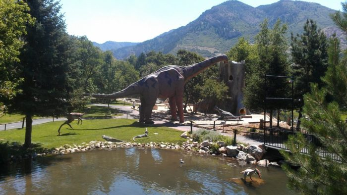 With the mountains in the background, it's easy to imagine what Ogden might have looked like when dinosaurs roamed here.