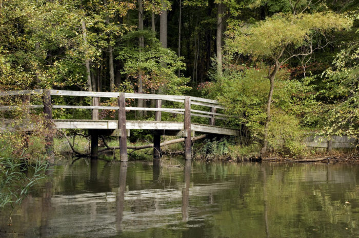 So, as you cross the bridges and walk the trails at this pristine State Park, be aware that it was not always as peaceful as it feels today.