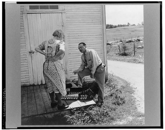20.  Silver salesman who travels from farm to farm trying to sell his wares to a farm woman near Lincoln.