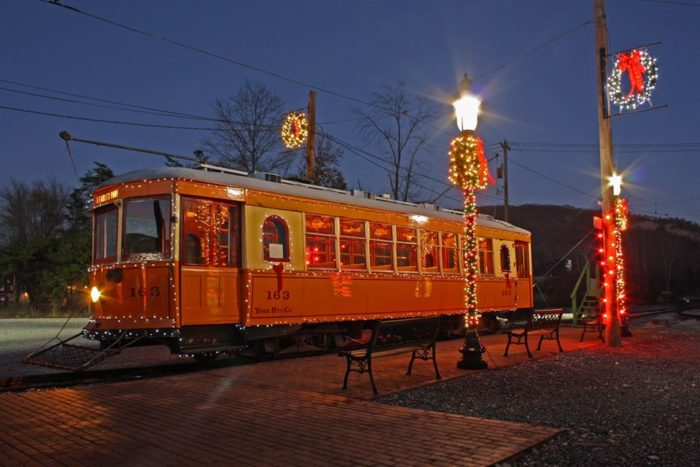 Or, enjoy a Christmas ride that culminates with a personal visit from Santa and a gift for each of the kids. Santa's Trolley runs December 3 from 10 a.m. to 4 p.m.