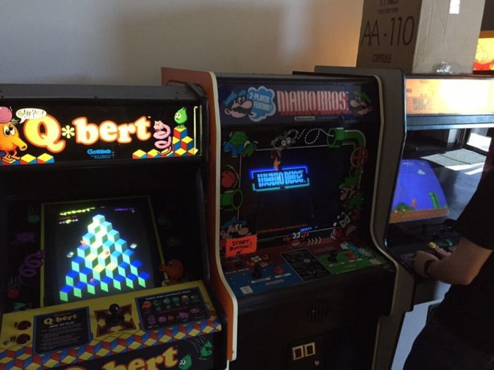Along with the pinball games, there are also several retro arcade games and other novelty machines.