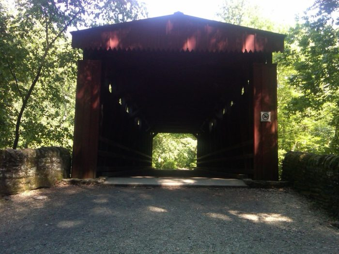 Snap photos as you approach and cross through the quaint covered bridge. The Thomas Mill Covered Bridge, which passes over the Wissahickon Creek, is accessible only to hikers, bicyclists, and horseback riders. No motor vehicles of any kind are permitted.