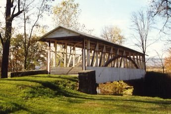 Snap photos of the Dr. Knisely Covered Bridge, a privately owned, 80 foot long bridge that crosses over Dunnings Creek.