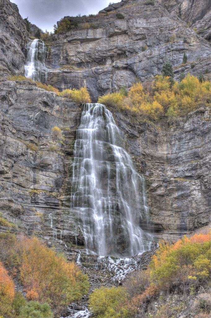 Stop at Bridal Veil Falls for a bit to take in this gorgeous 607-foot tall waterfall. Your trip ends when you reach the mouth of Provo Canyon