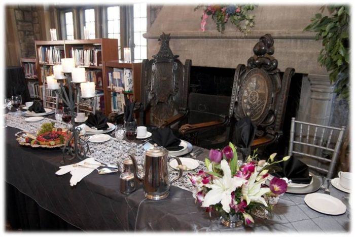 While the library is the perfect place for afternoon tea.
