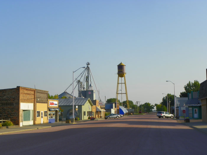 The main street of Armour is a picture-perfect small town.