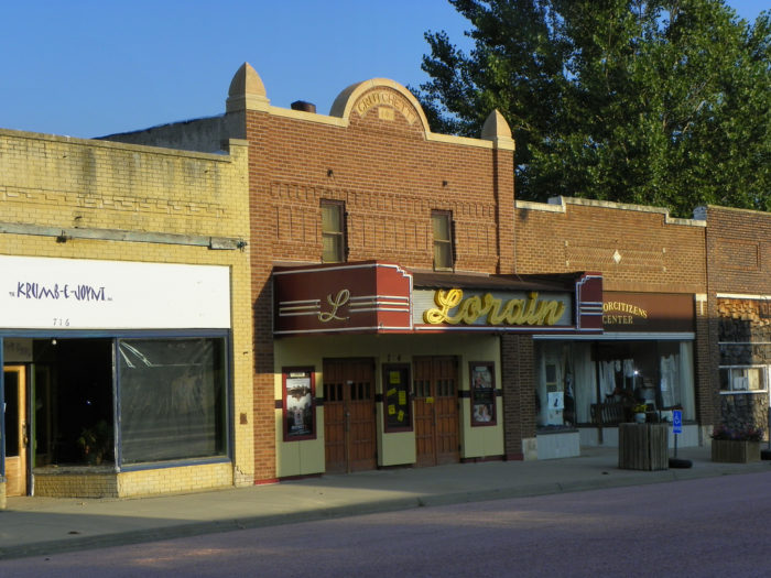 The adorable, retro Lorain Theater in the downtown area is a popular stop for locals.