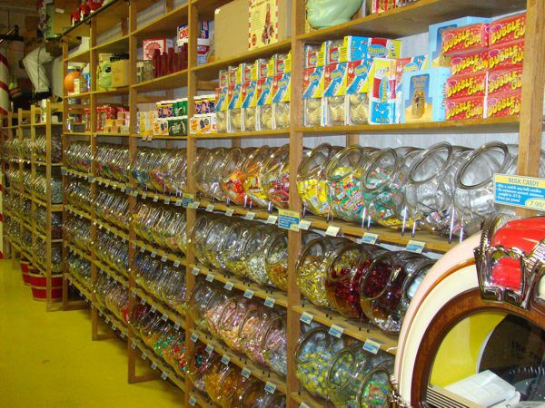 It's hard not to squeal in delight when you see the huge variety of packaged and bulk candies.