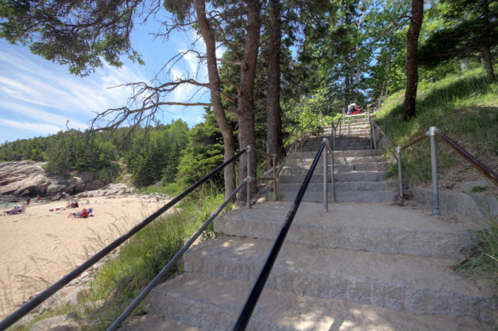 You'll begin this beautiful hike at the parking lot for Sand Beach.