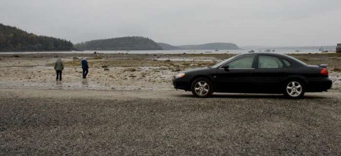 Another option for getting to the trail is to simply park on the sand bar, which we definitely do not recommend.