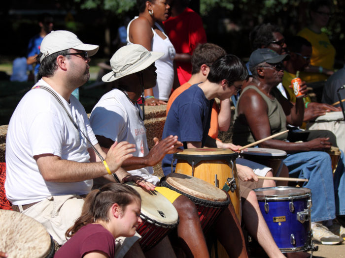6. Listen to and dance to the drum circle at Meridian Hill Park.
