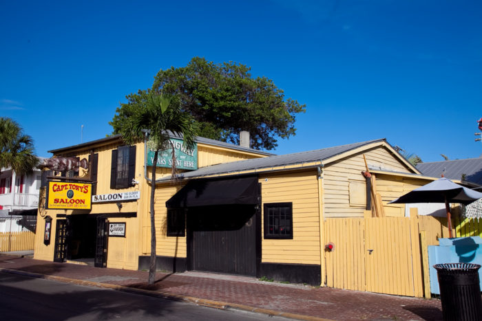It's not often that you come across a place with a story as interesting or as creepy as the history of Captain Tony's Saloon in Key West.  In the 1850s, the building was an ice house that doubled as Key West's first morgue.