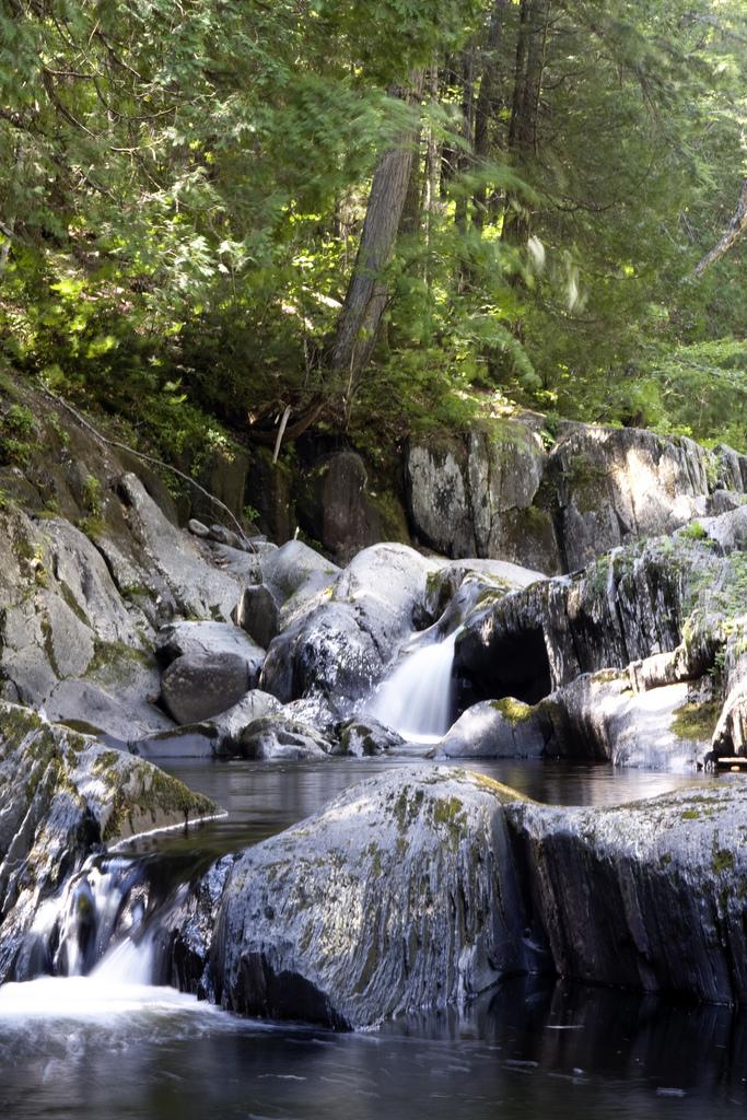 Little Wilson Falls bumps along lots of rocks and mini falls as it makes its way along.