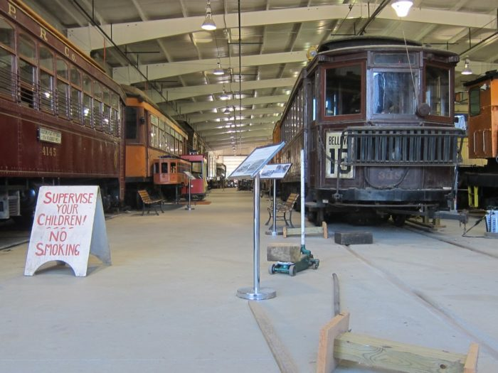 Stop by the historic collection of trolleys housed at the museum that includes trolley cars dating back as far as 1890 (a Pullman that operated on Pittsburgh Railways).