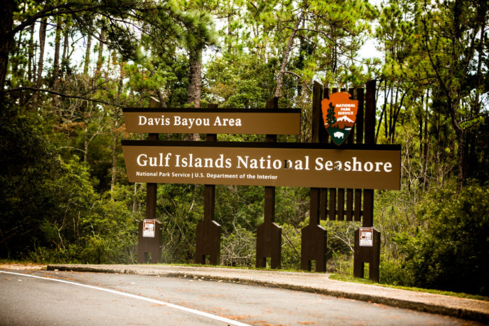 The only Mississippi area of the Gulf Islands National Seashore accessible by car, the Davis Bayou Area is located in Ocean Springs and offers a ton of recreational opportunities, including fishing, wildlife viewing, picnicking, biking, and hiking.