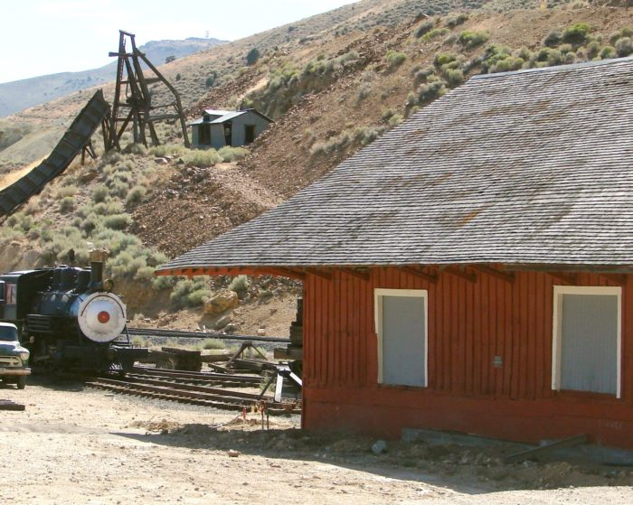 The haunted mine is closed and trespassing is not allowed. All that's left is the mine's incline chute, head frame, a miners' cabin and of course, the ghosts of dead miners. The cabin is now rented out to intrepid guests by the Gold Hill Hotel.