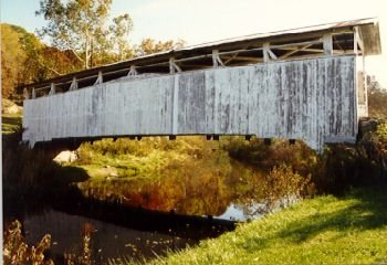 The original Ryot Bridge, crossing Dunnings Creek, debuted sometime in the late 1880s. Fire destroyed the original bridge in 2002 but it reopened to both foot and vehicle traffic again in 2004.