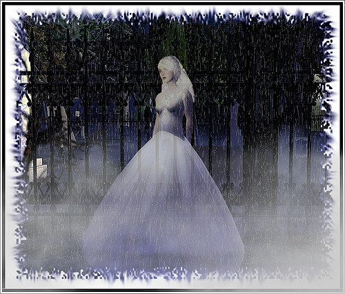 She, however, is not alone in her despair for the spirit of the Lady in White is said to roam the balcony of the theater.  The Lady in White earned her name because her story came to a tragic end on her wedding day.