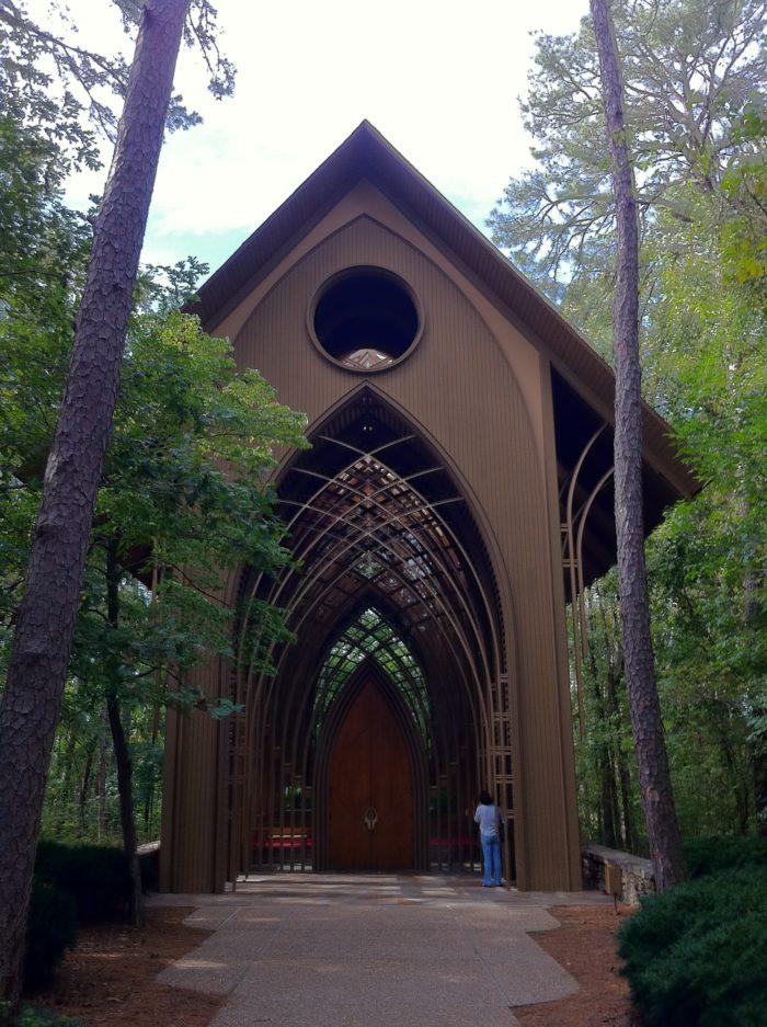 The northwest Arkansas town of Bella Vista is home to Mildred B. Cooper Memorial Chapel.