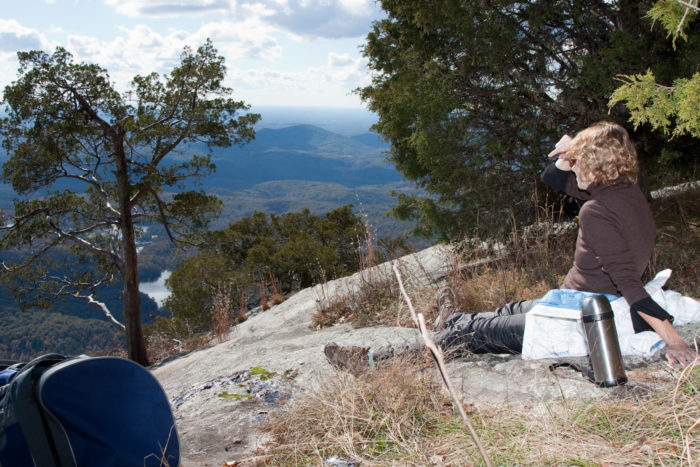 """Table Rock Trail is rated a """"hard"""" trail so if you're a novice or have other physical issues you might want to work up to this one or skip it altogether."""