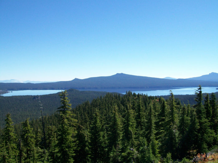 Here's a photo of the lake, taken from Waldo Mountain Lookout.
