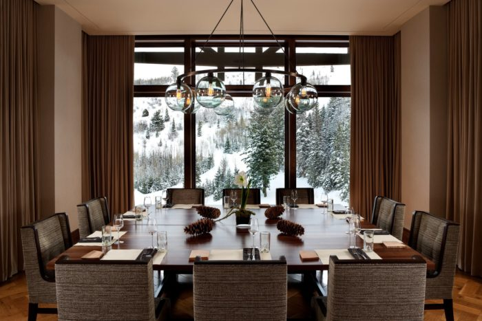 J&G Grill offers four private dining rooms. This the Chef's Table.