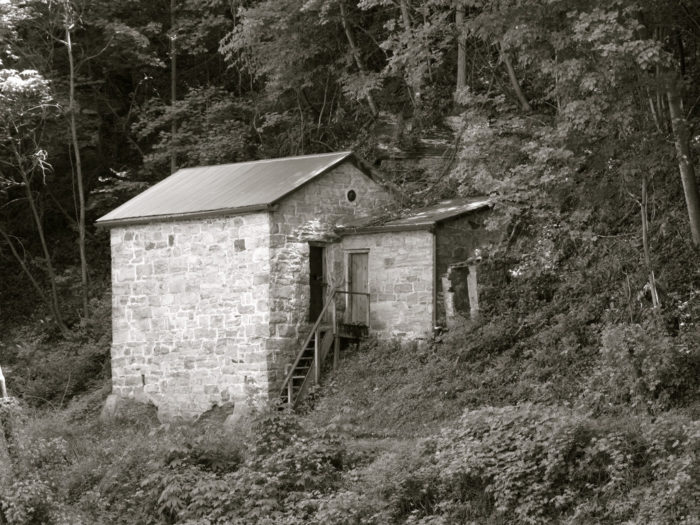 This is the Kaymoor Powder House.