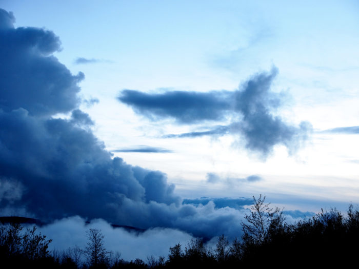 Depending on the weather conditions, you might be treated to a show of dramatic, low-hanging clouds.