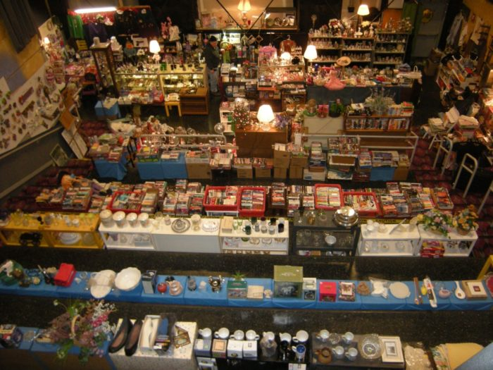 Wander through the store spaces indoors to uncover treasures of all sizes and all prices.