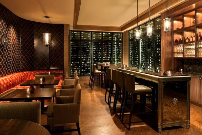 Check out the restaurant's large selection of wine in the Wine Vault, where you can reserve private table dining or bar seating.