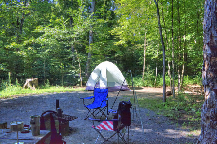 Just an hour northeast of the Twin Cities, this epic campground is great for a weekend trip.