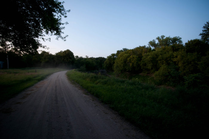 2. An enchanting road to no where through the trees around Barrie, North Dakota