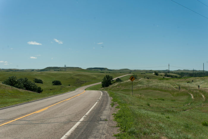5. A curvy back road through the beauty of Burleigh County