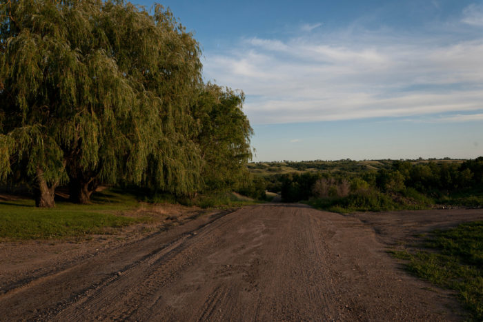 9. This road near Pick City, North Dakota, is really off the beaten path but absolutely stunning